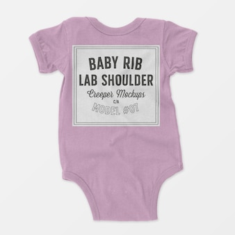 Baby rib lap shoulder creeper mockup