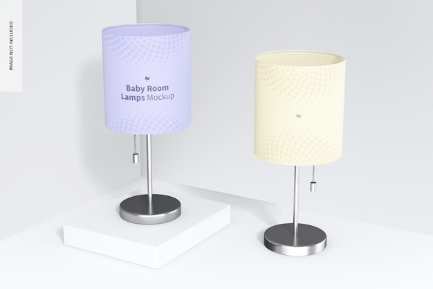 Mockup di lampade per camerette