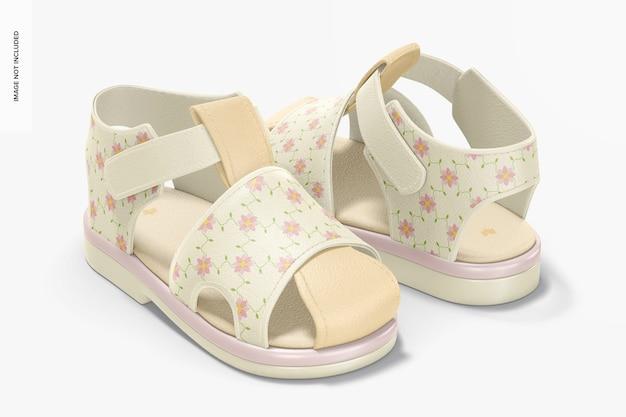 Mockup di scarpe per bambini