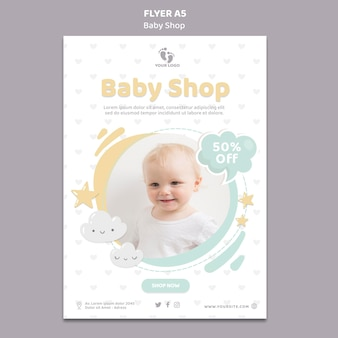 Baby shop flyer template