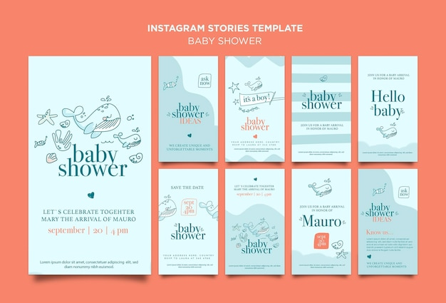 Baby shower celebration instagram stories