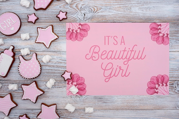 Baby shower decorations with gender reveal