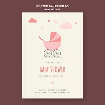 Baby shower print template
