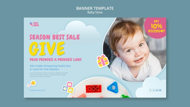 Baby store banner template