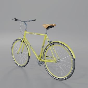 Back half side view of universal bicycle mockup