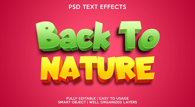 Back to nature text effect