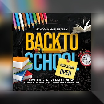 Back to school admission flyer