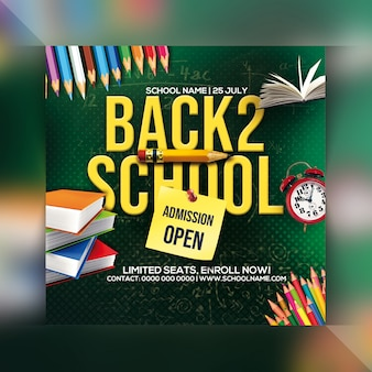 Back to school admission open flyer