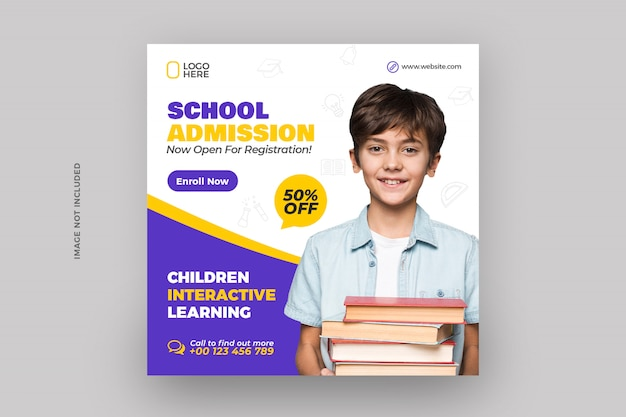 Back to school admission social media post
