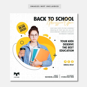 Back to school admission template