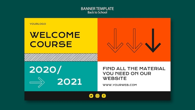 Back to school banner template design