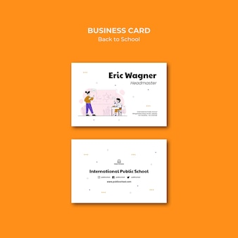 Back to school business card