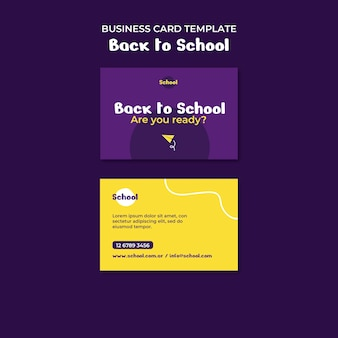 Back to school business card Free Psd
