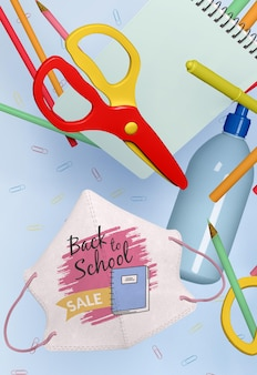 Back to school concept mock-up