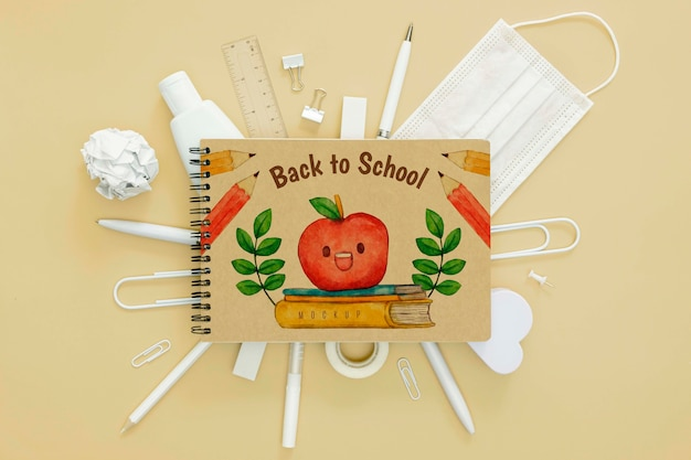 Back to school concept above view