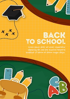 Back to school design for poster template