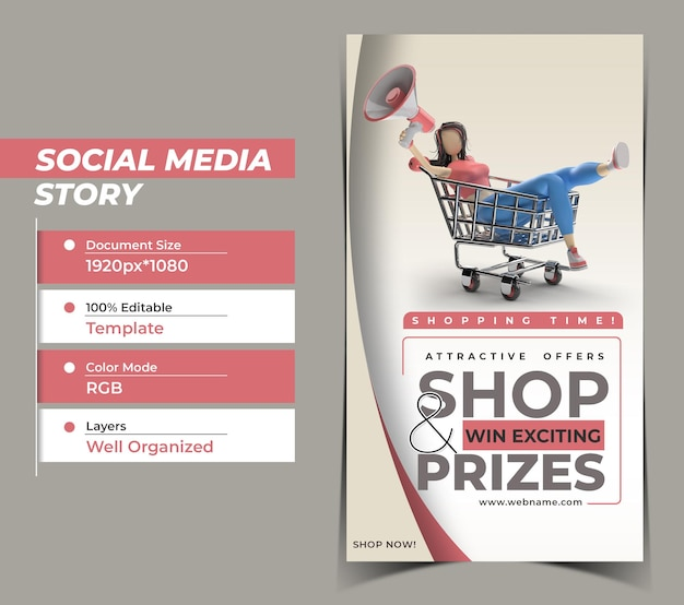 Back to school digital marketing instagram stories banner templa