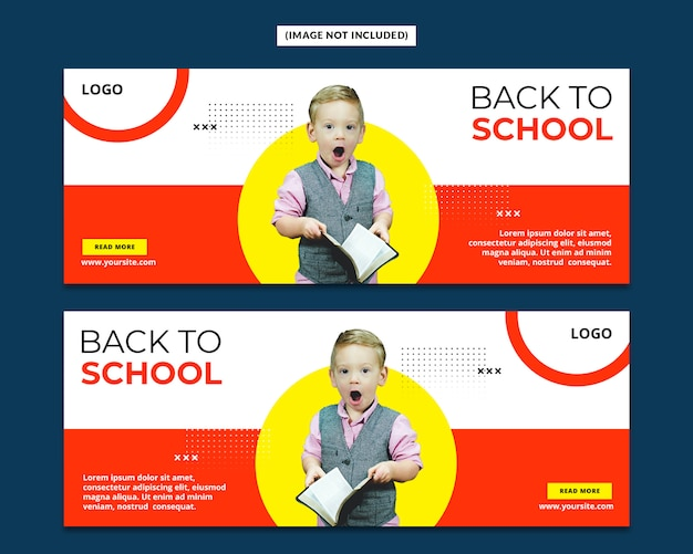 Back to school facebook cover page template psd