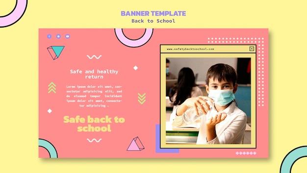 Banner orizzontale di ritorno a scuola