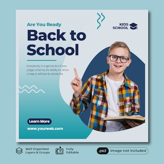 Back to school instagram post template