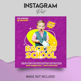 Back to school instagram post template