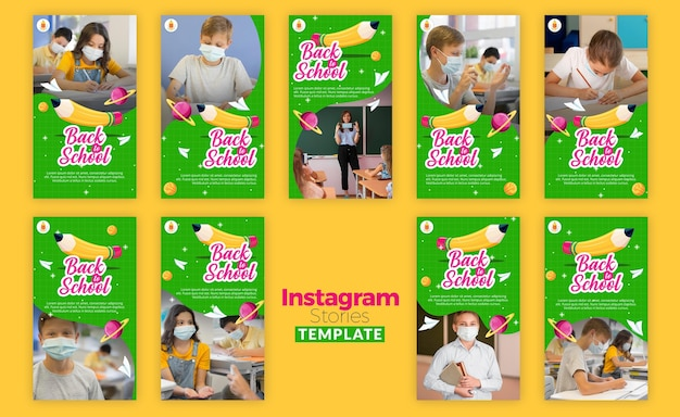 Back to school instagram stories template