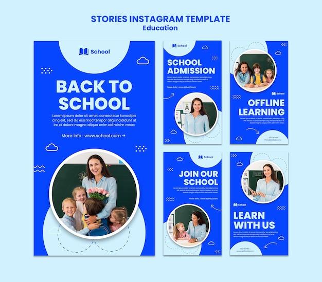 Back to school instagram stories