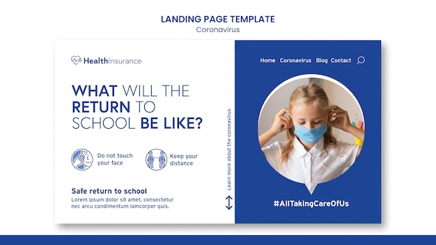 Back to schoollanding page template