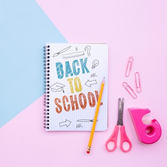 Back to school mockup notebook