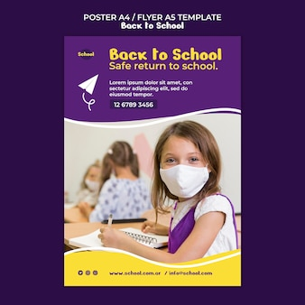Back to school print template Free Psd
