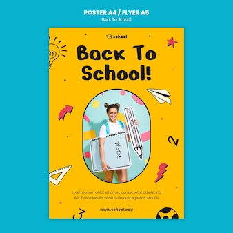 Back to school print template