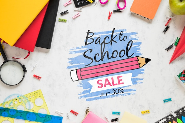 Back to school sale drawing with special discount
