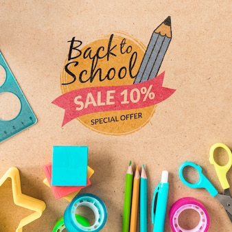 Back to school sale with 10% discount