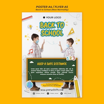 Back to school season flyer template