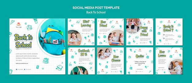 Torna a scuola social media post template