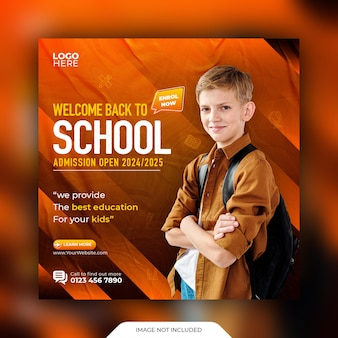 Back to school social media post and web banner template