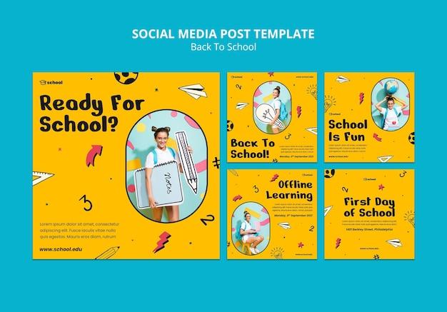 Back to school social media posts