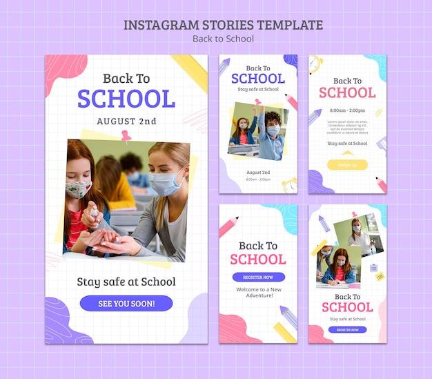 Back to school social media stories Premium Psd