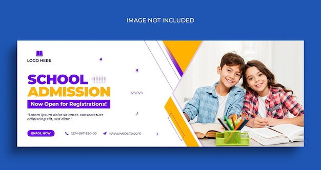 Back to school social media web banner flyer and facebook cover photo design template Premium Psd