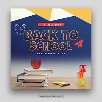 Back to school special offer promo for student social media post template
