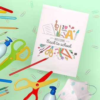 Back to school stationery mock-up