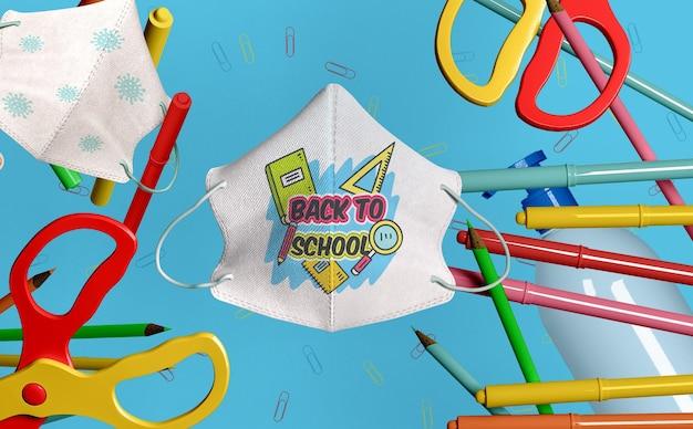 Back to school stationery mock-up