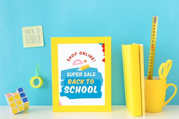 Back to school super sale banner design