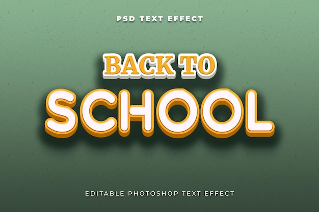 Back to school text effect template