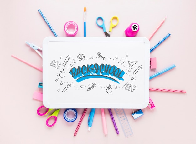 Back to school trends with white board