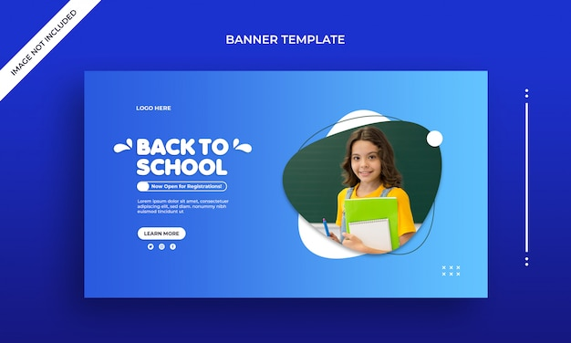 Back to school web banner template