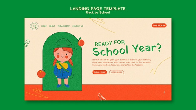 Back to school web template