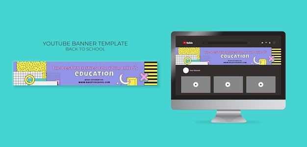 Back to school youtube banner