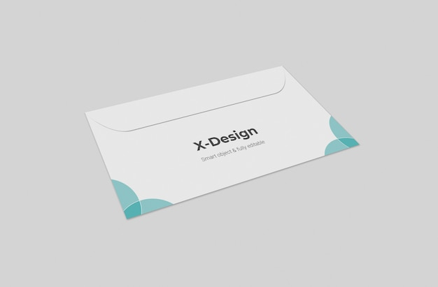 Макет конверта на обратной стороне