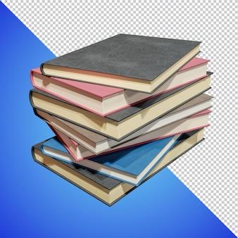 学校の本に戻る3dレンダリングが分離されました